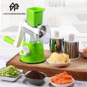 3 In1 Kitchen Multifunctional Vegetable Cutter Round Grater for Vegetables Spiralizer Potato Slicer Kitchen Gadgets