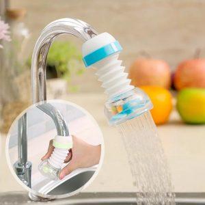 360 Degree Adjustable Tap Extension Filter Kitchen Hose Shower Fauset Kitchen Water Tap Extension Sink Faucet Extender Designer