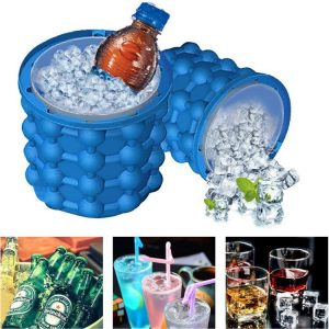 Silicone ice Cube Maker Ice Cube Mold Tray Portable Bucket Wine Ice Cooler Beer Cabinet Kitchen Tools Drinking Whiskey Freeze