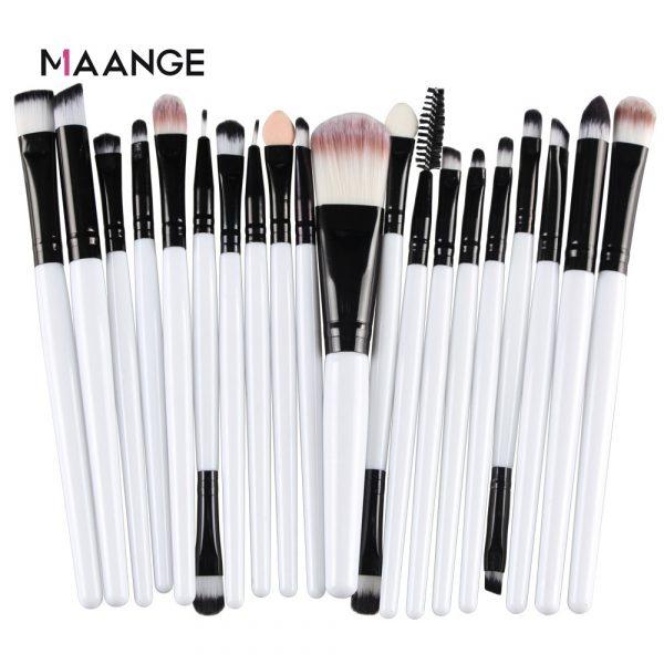 MAANGE 6/15/20 Pcs Makeup Brush Set Eyeshadow Blending Foundation Powder Eyebrow Blush Double Head Brush Beauty Make Up Kit Tool