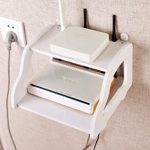 Telephone wifi Storage Rack TV Set Top Shelf wifi Router shelf Set-top Box holder living room storage holder for your box mobile