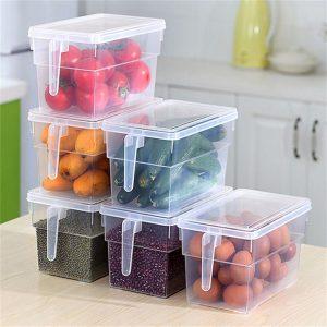 Portable Refrigerator Fridge Sealed Food Fruits Storage Box Organizer Container Storage Box Food Container Plastic Fresh