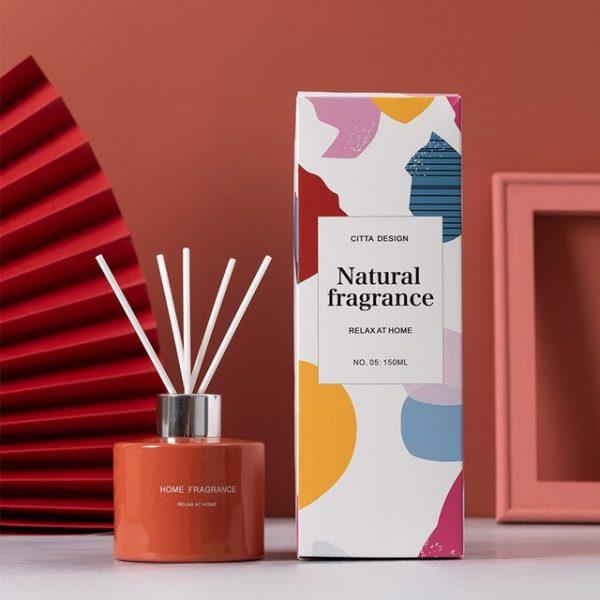 150ml Morandi Color Naturally Home Fragrance Gift Set Fireless Aromatherapy Reed Diffuser France Blocks Gardenia Cool Water
